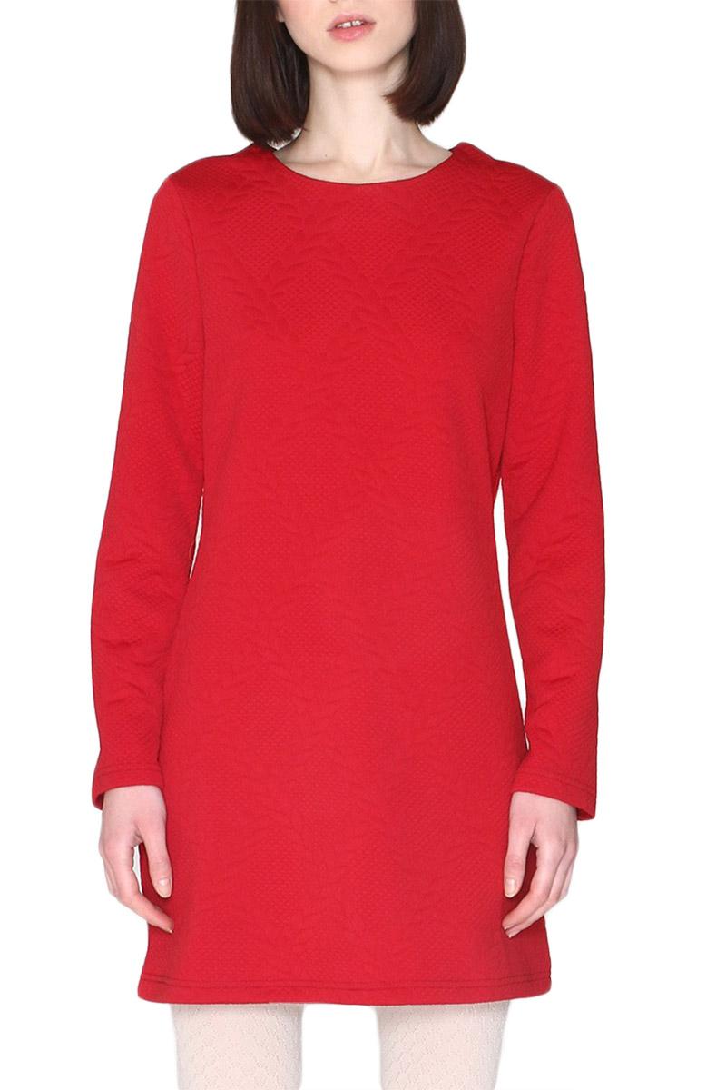 Pepaloves Macarena μακρυμάνικο μίνι φόρεμα μπορντό - 108155