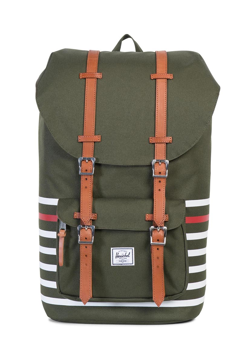 Herschel Supply Co. Little America backpack forest night Offset stripe ... e5ddf08ed88