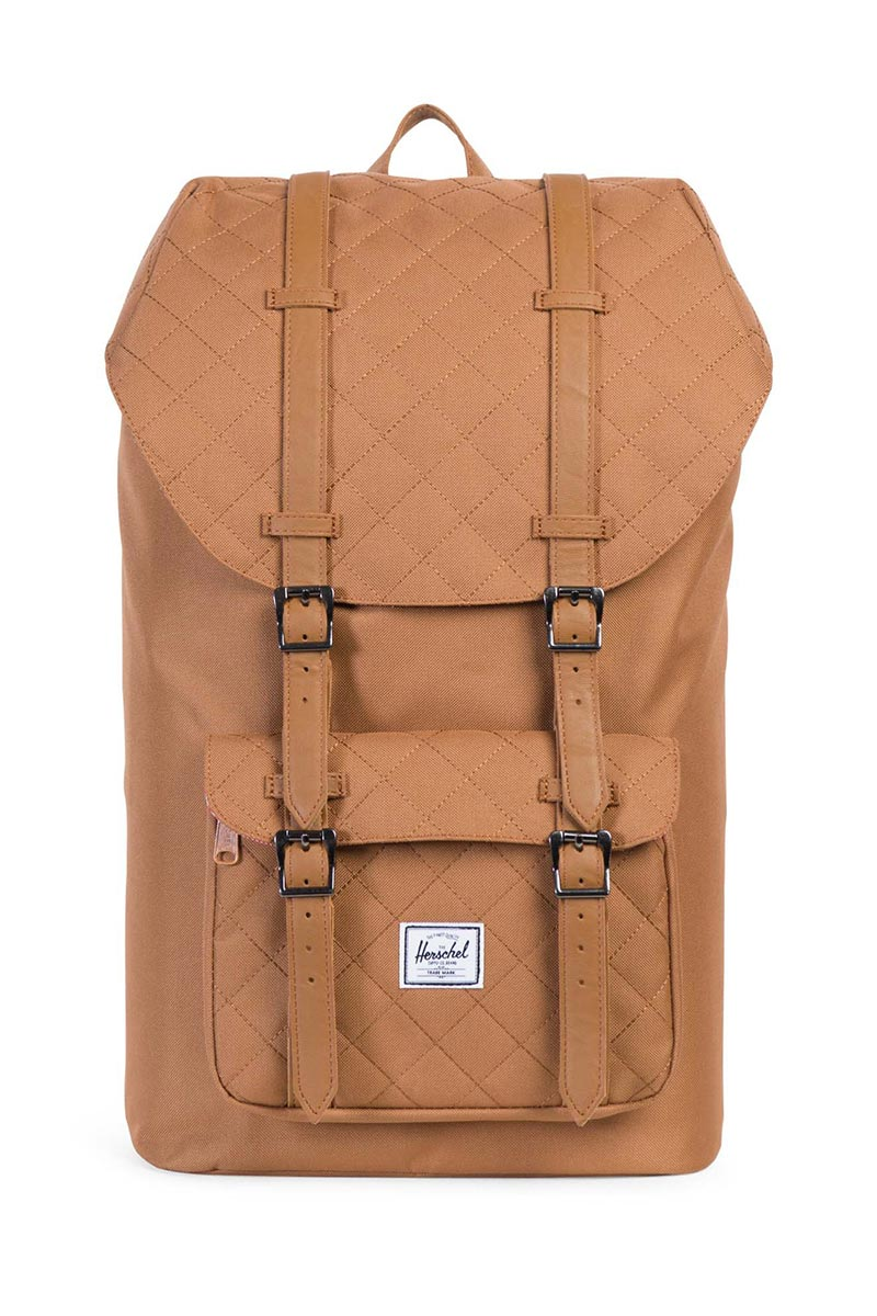 d5f8f727038 Herschel Supply Co. Little America backpack caramel quilted caramel ...