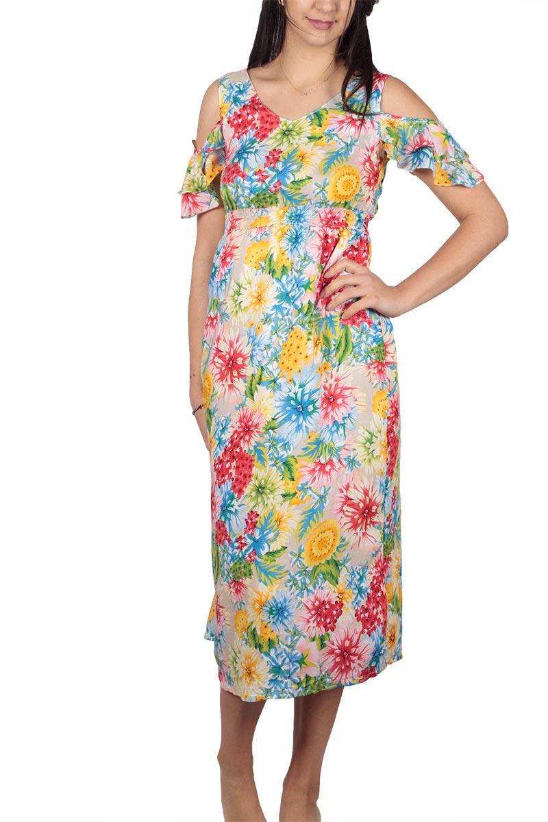 Μίντι φόρεμα φλοράλ γυναικεια     φορέματα