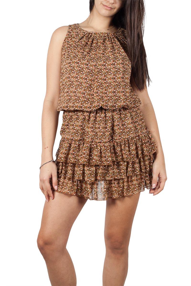 Maggie sweet Celia αμάνικο mini φόρεμα με βολάν γυναικεια     φορέματα
