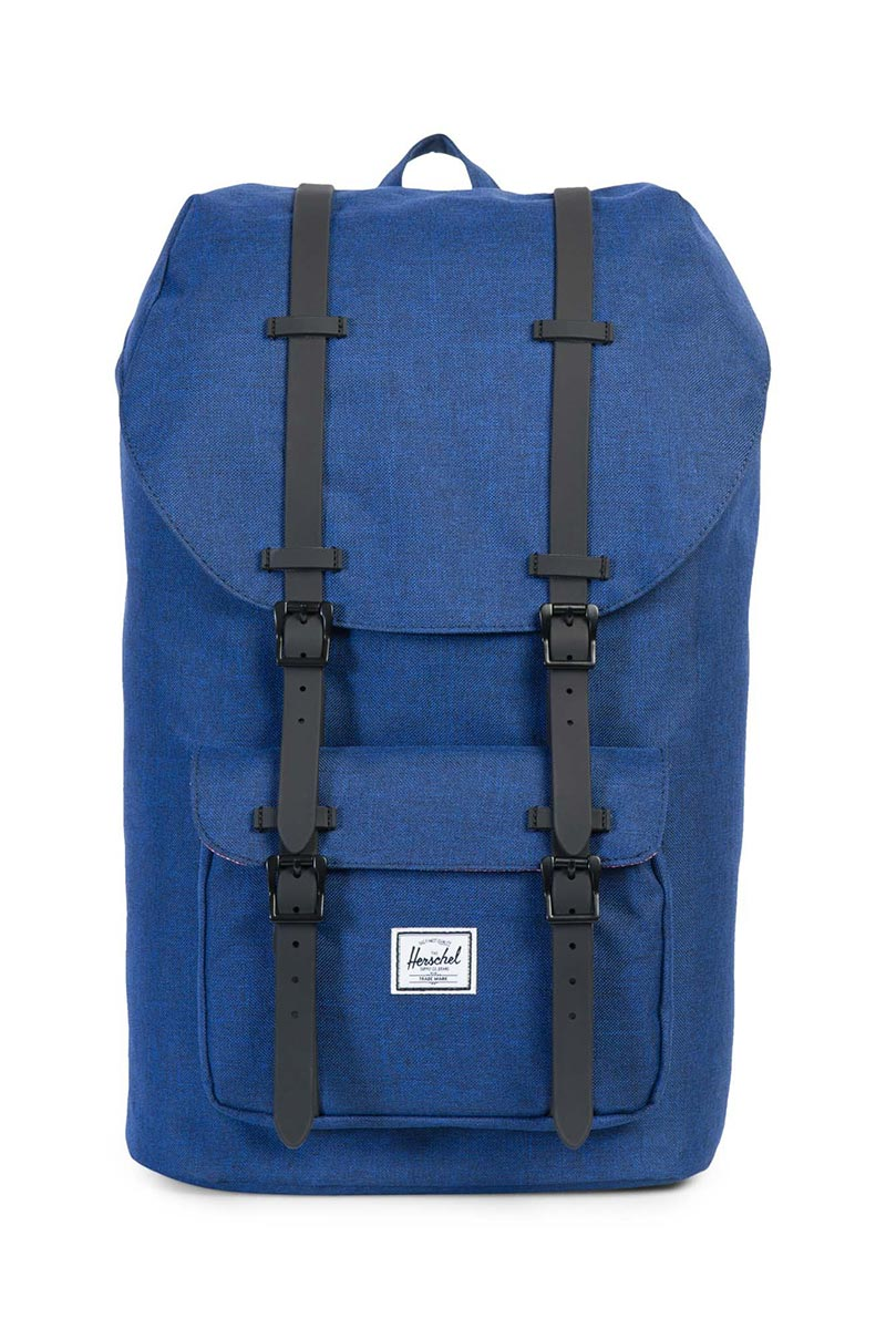 Herschel Supply Co. Little America backpack eclipse crosshatch/black rubber - 10014-01335-os