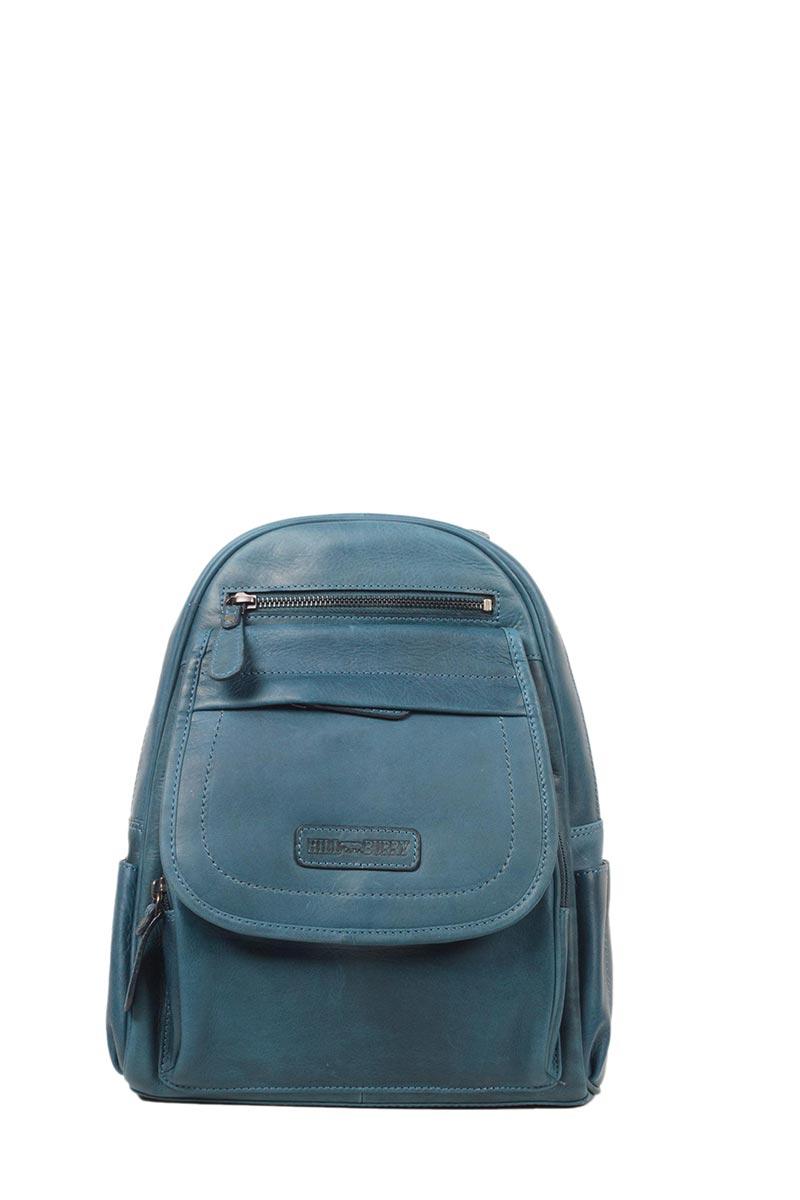 Hill Burry δερμάτινο σακίδιο πλάτης μπλε