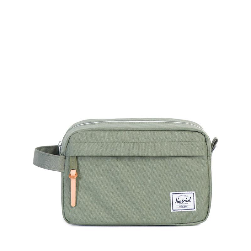 Herschel Supply Co. Chapter Offset travel kit deep lichen green stripe