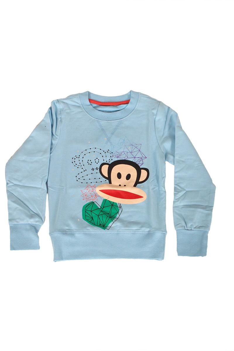 Paul Frank παιδική φούτερ μπλούζα γαλάζια