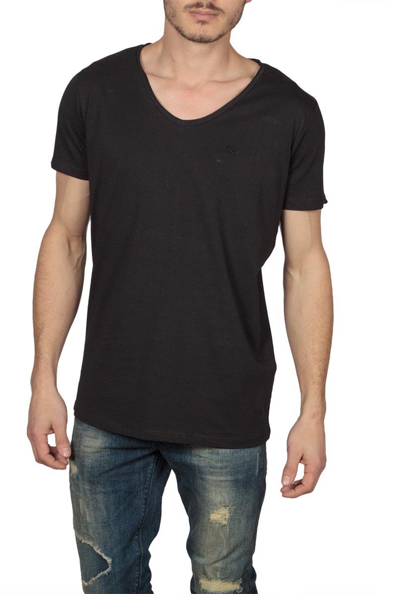 LTB Koji ανδρικό t-shirt μαύρο με V-λαιμόκοψη - 84222-6598
