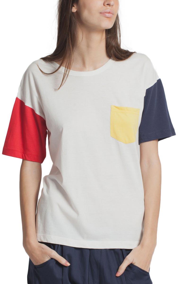 Thinking Mu Colors γυναικείο T-shirt ημίλευκο