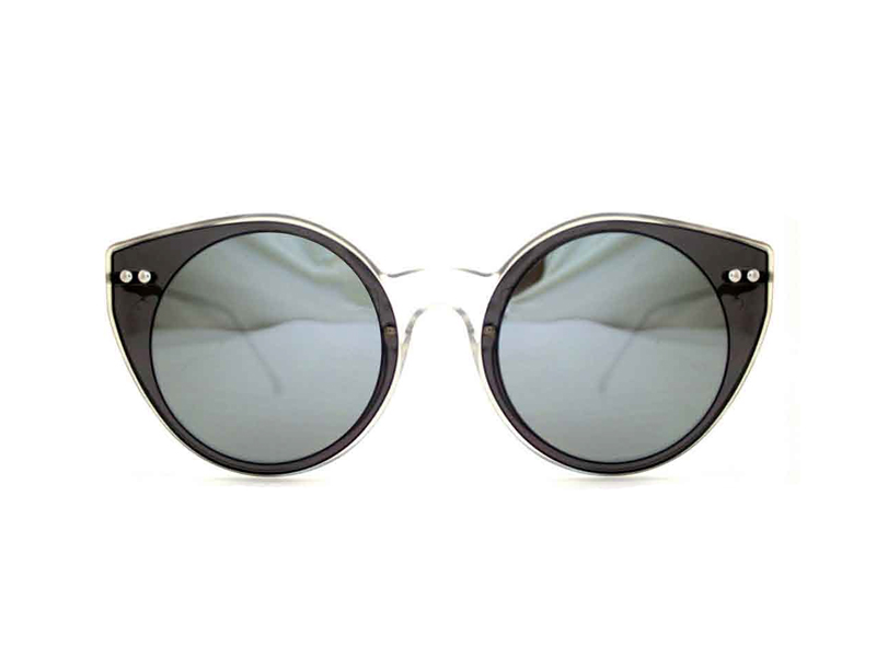 Spitfire γυαλιά ηλίου Alpha select double lens clear/black & silver mirror - alpha-sel-cl/blk/slv