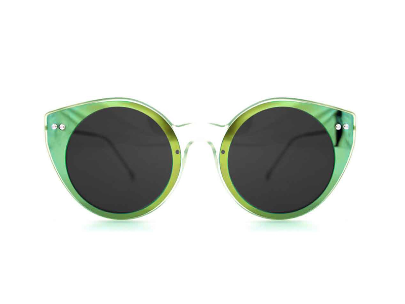Spitfire γυαλιά ηλίου Alpha select double lens clear/green mirror & black αξεσουαρ   γυαλιά ηλίου