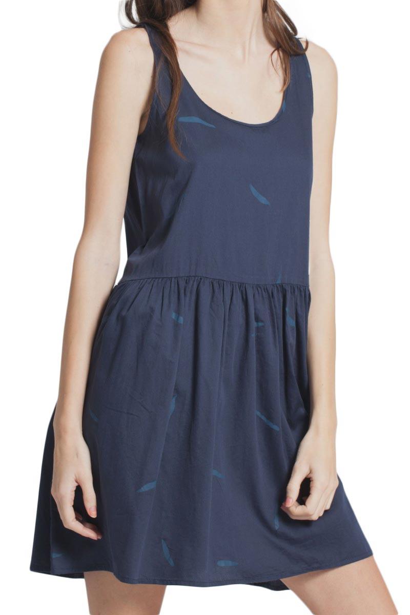 Thinking Mu Brush cute μίνι φόρεμα μπλε γυναικεια     φορέματα