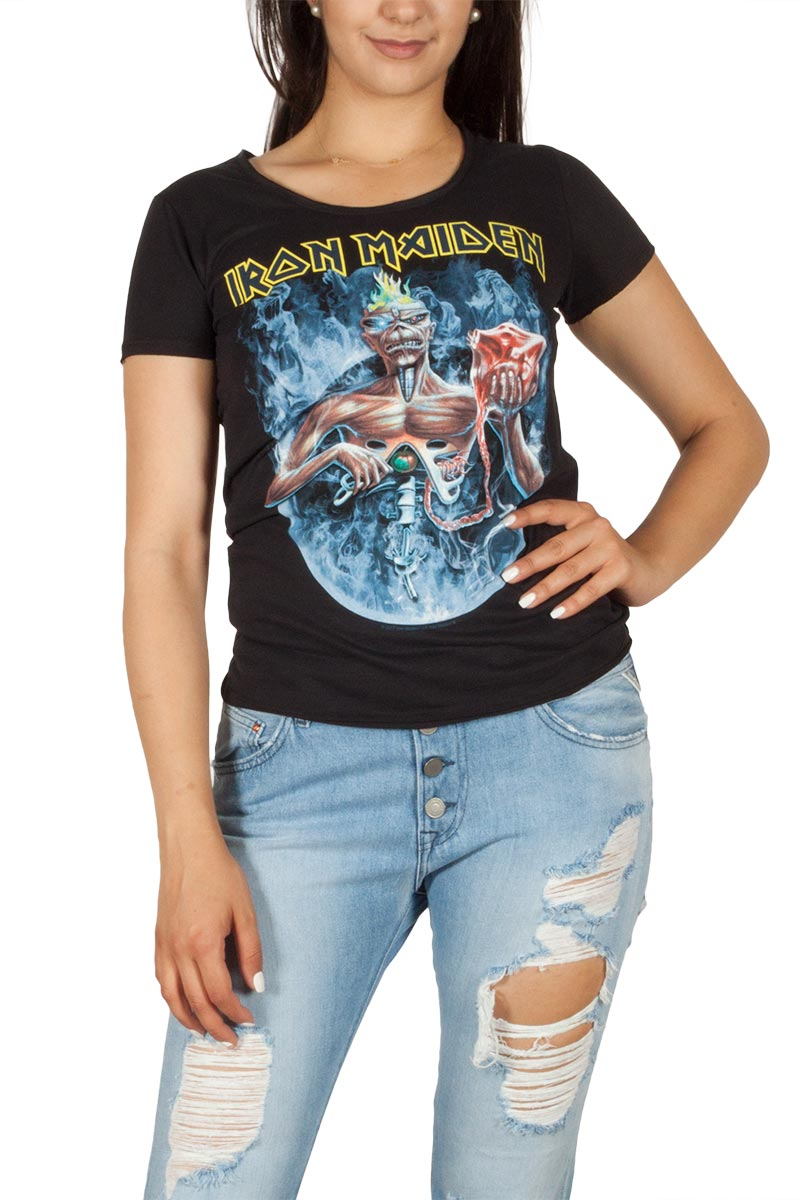 Amplified Iron Maiden Seventh son circle T-shirt γυναικείο μαύρο