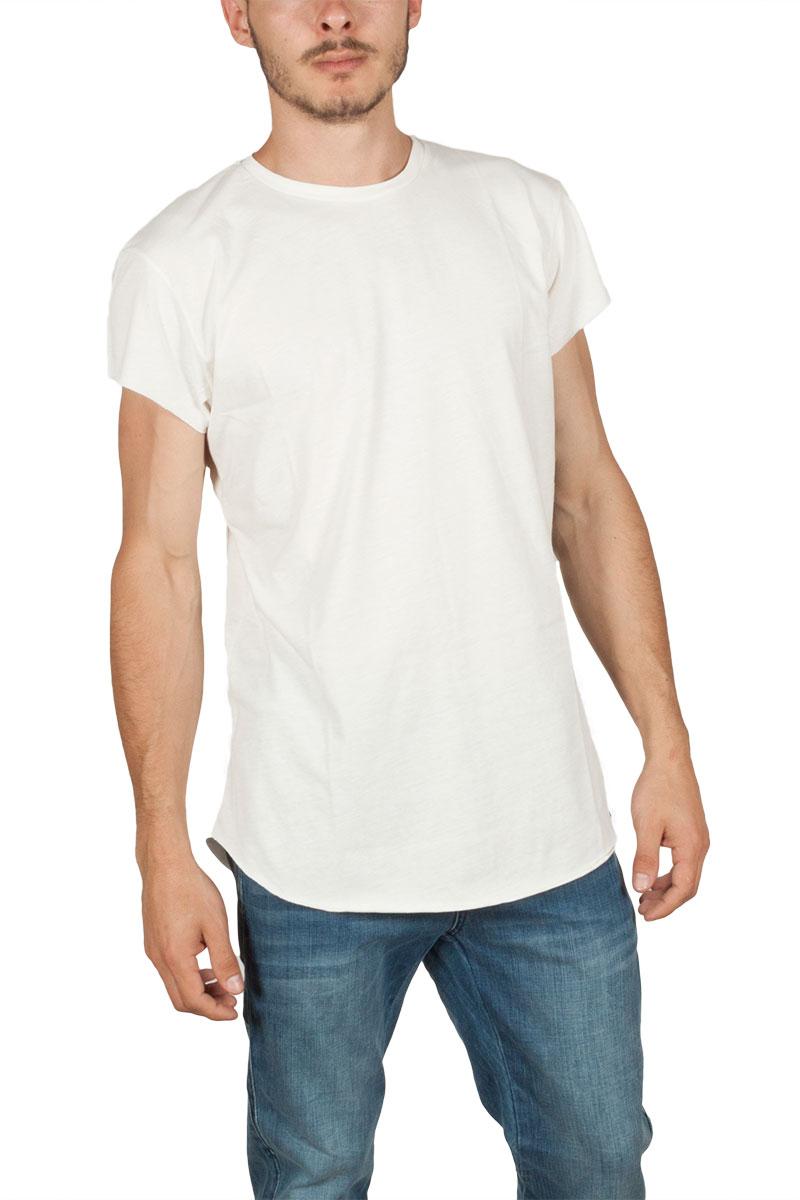 Oyet ανδρικό T-shirt εκρού με ρίγες στο πλάϊ