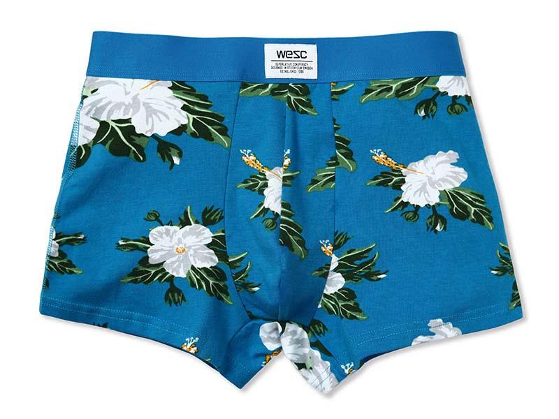 Wesc boxer brief floral process blue