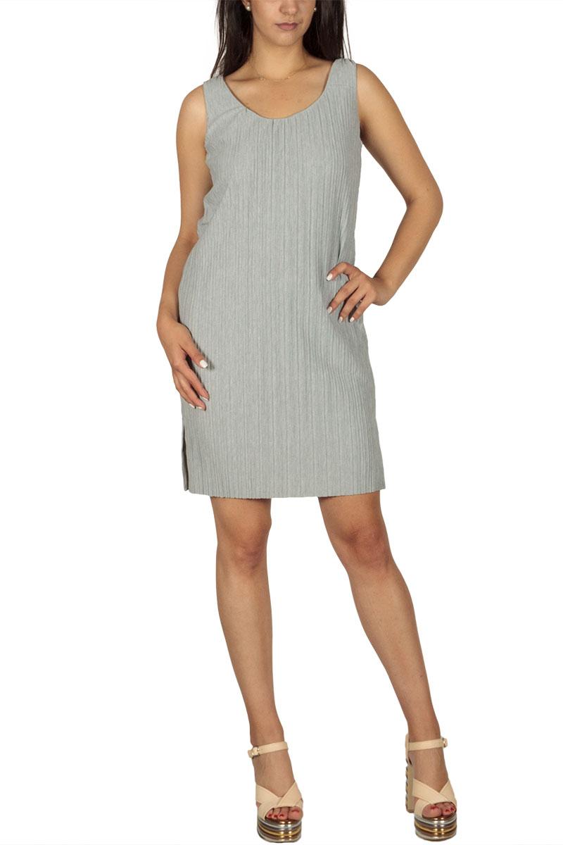 Soft Rebels Lea mini φόρεμα πλισέ ανοιχτό γκρι