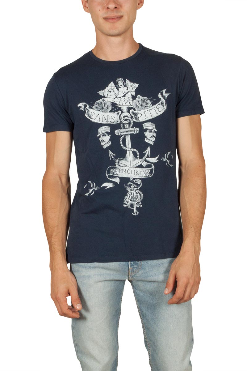 French Kick Amiral ανδρικό t-shirt navy