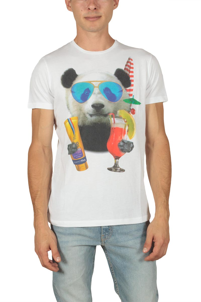 French Kick Fifi ανδρικό t-shirt λευκό