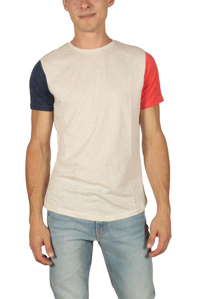 French Kick FK ανδρικό t-shirt εκρού - fkm1-2125