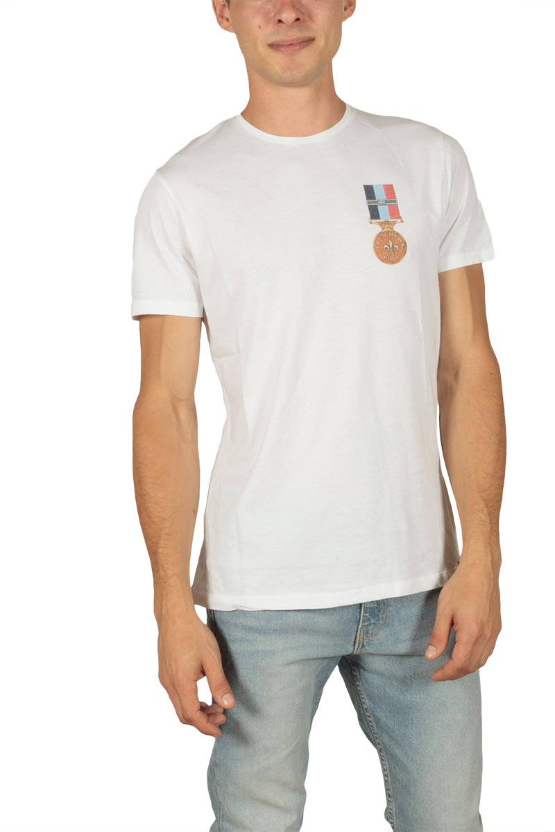 French Kick ανδρικό t-shirt Polichinelle white