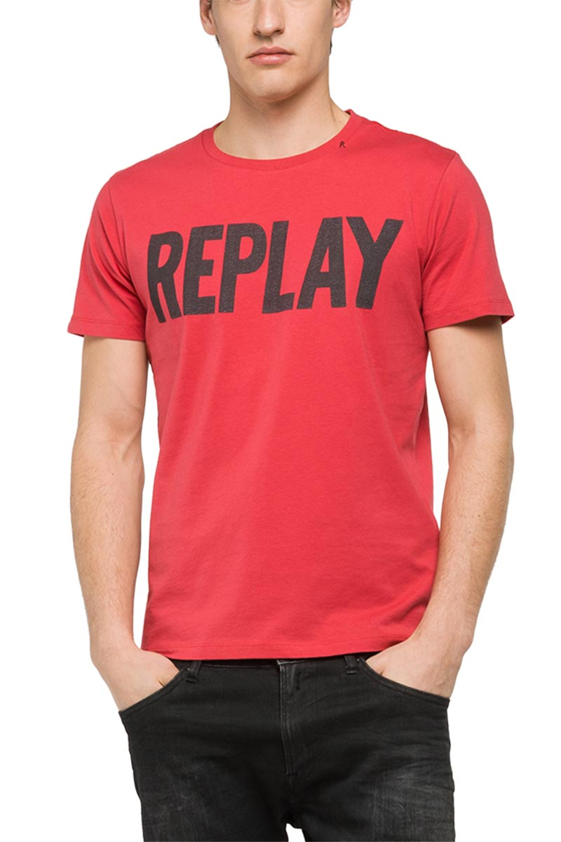 replay logo t shirt. Black Bedroom Furniture Sets. Home Design Ideas