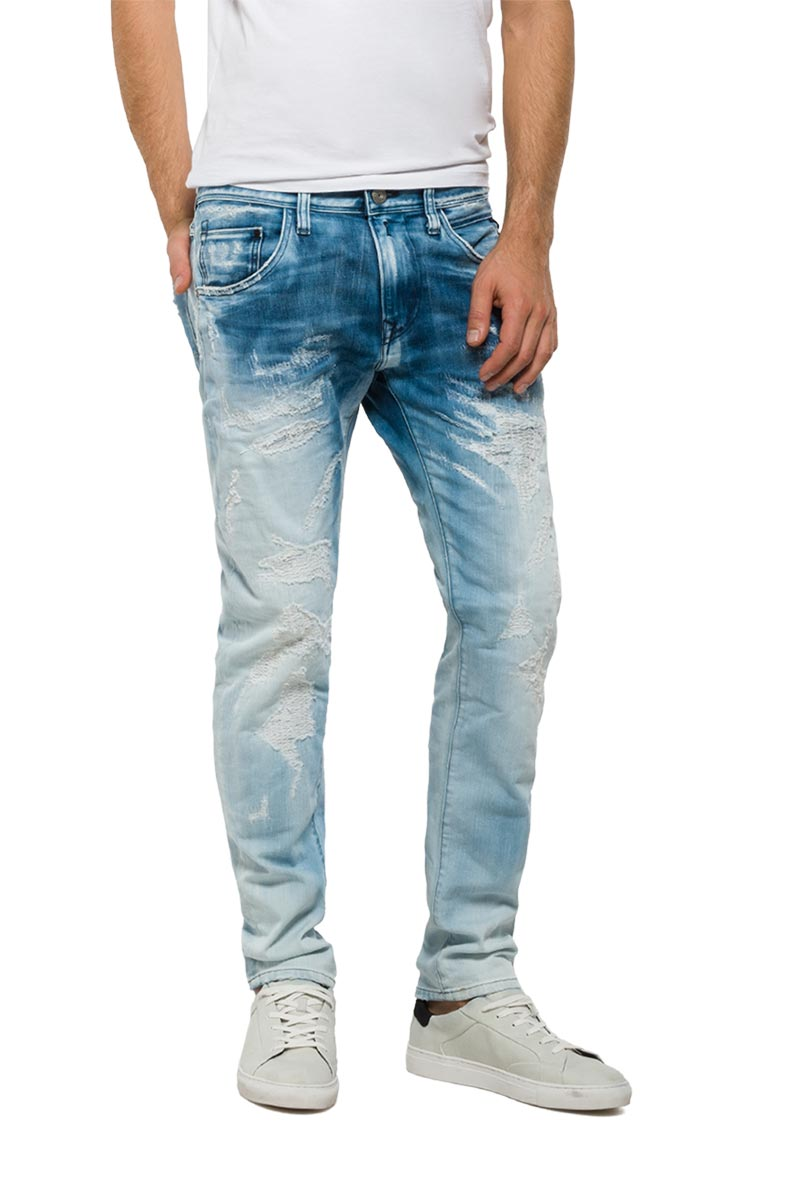 Replay Numasig tapered fit jeans bright blue - mr919-0021a-954-010