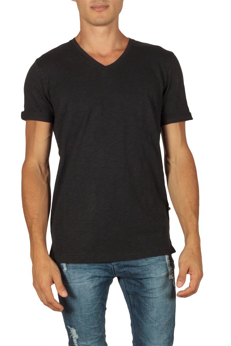 Minimum Earlham ανδρικό slub t-shirt μαύρο