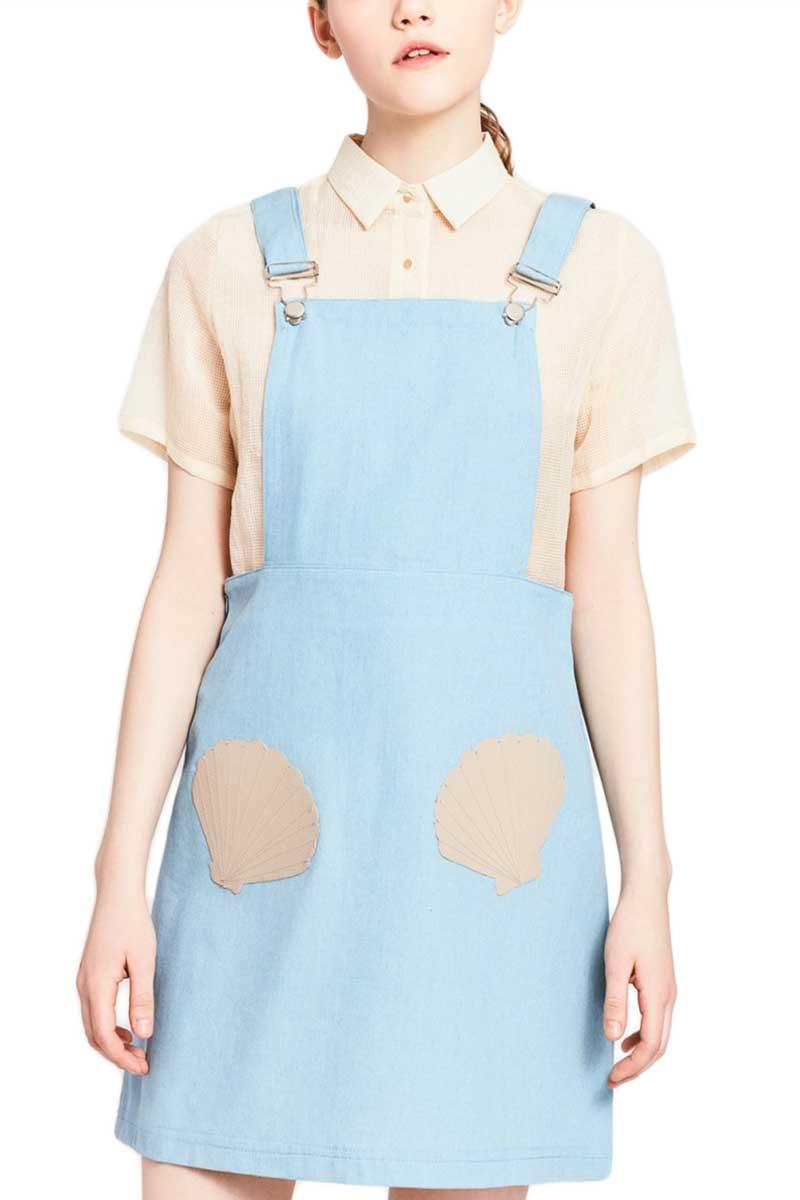 Migle + me φόρεμα σαλοπέτα Bottom of the Sea