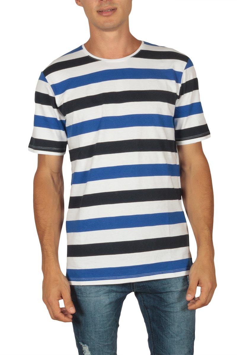 Minimum Tatipu ανδρικό ριγέ t-shirt dark surf