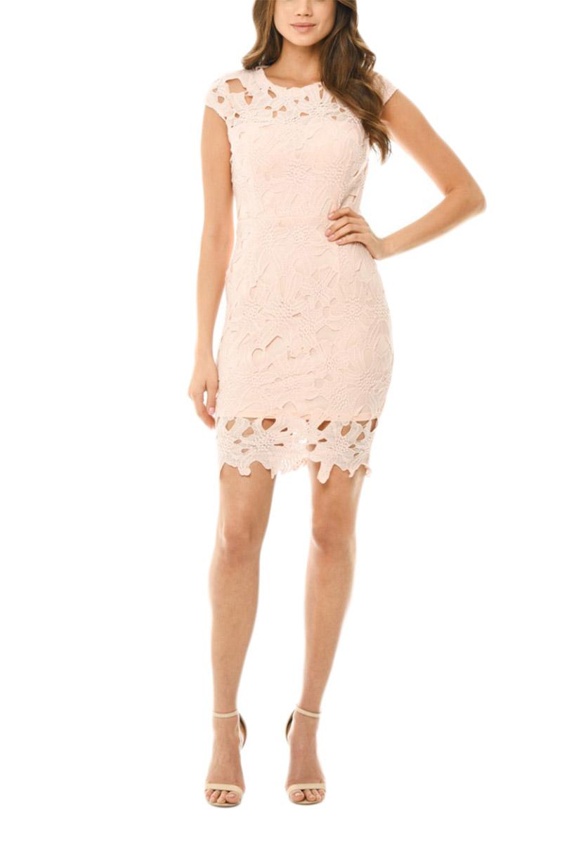 AX Paris μίνι φόρεμα ροζ με δαντέλα