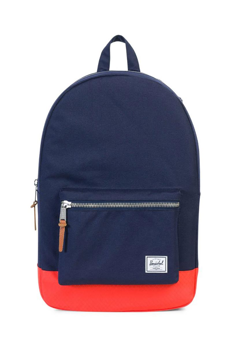 Herschel Supply Co. Settlement backpack peacoat hot coral ebcfd3aae532e