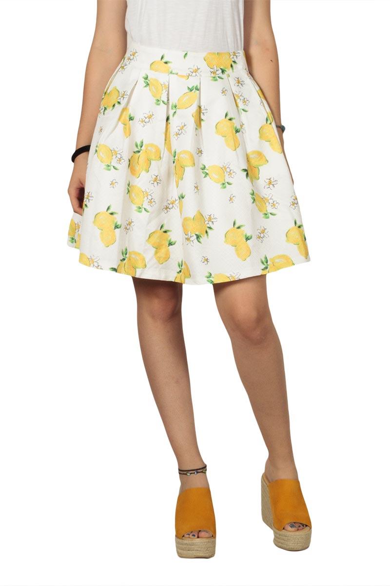 Migle + me Lemon φούστα με πιέτες - la-221l