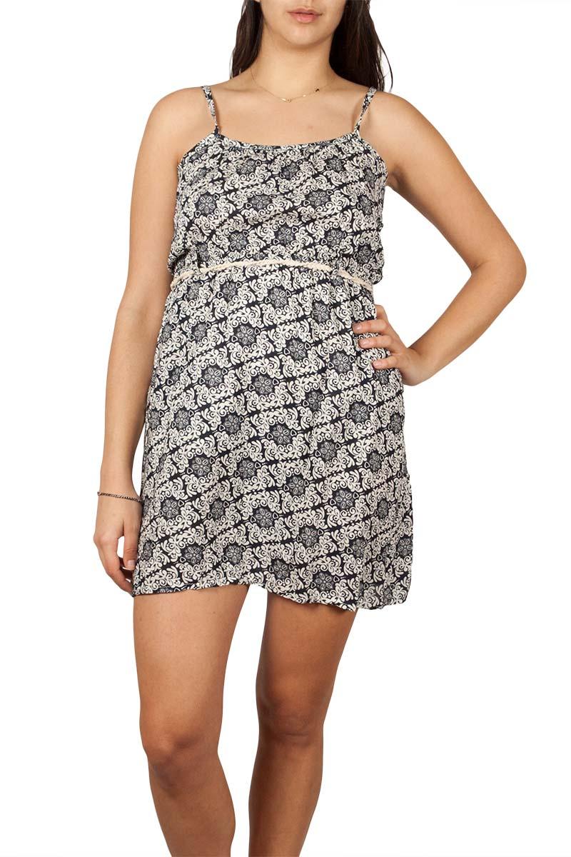 Τιραντέ μίνι φόρεμα ασπρόμαυρο