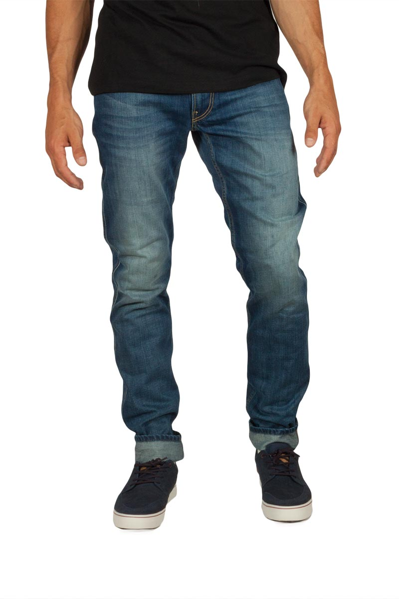 Replay ανδρικό Anbass slim fit jeans deep blue - m914-000-606308-009