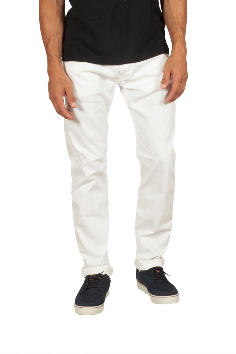 Replay ανδρικό Anbass slim fit jeans white - m914-000-8005229-001