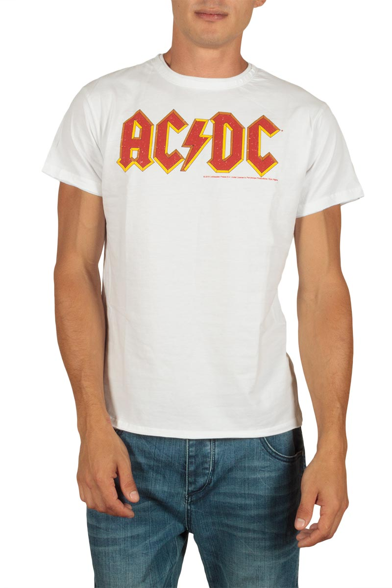 Amplified ACDC logo t-shirt λευκό