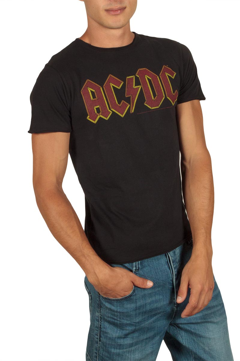 Amplified ACDC logo t-shirt μαύρο