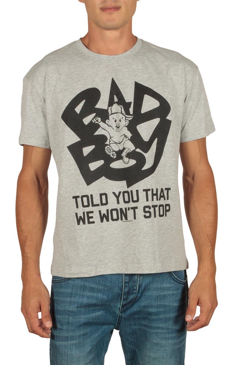 Amplified Bad Boy Told you that we wont t-shirt γκρι μελανζέ