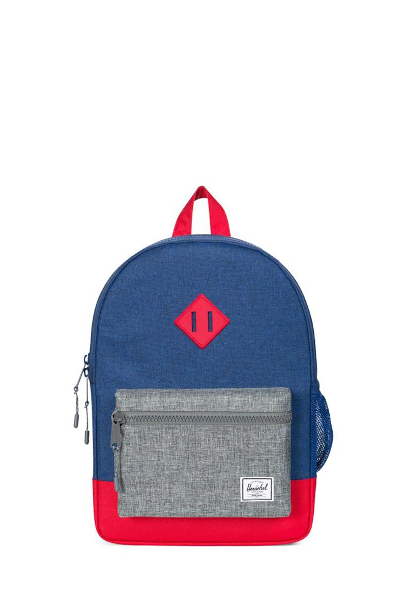 Herschel Supply Co. Heritage Youth backpack eclipse crosshatch/raven crosshatch/red
