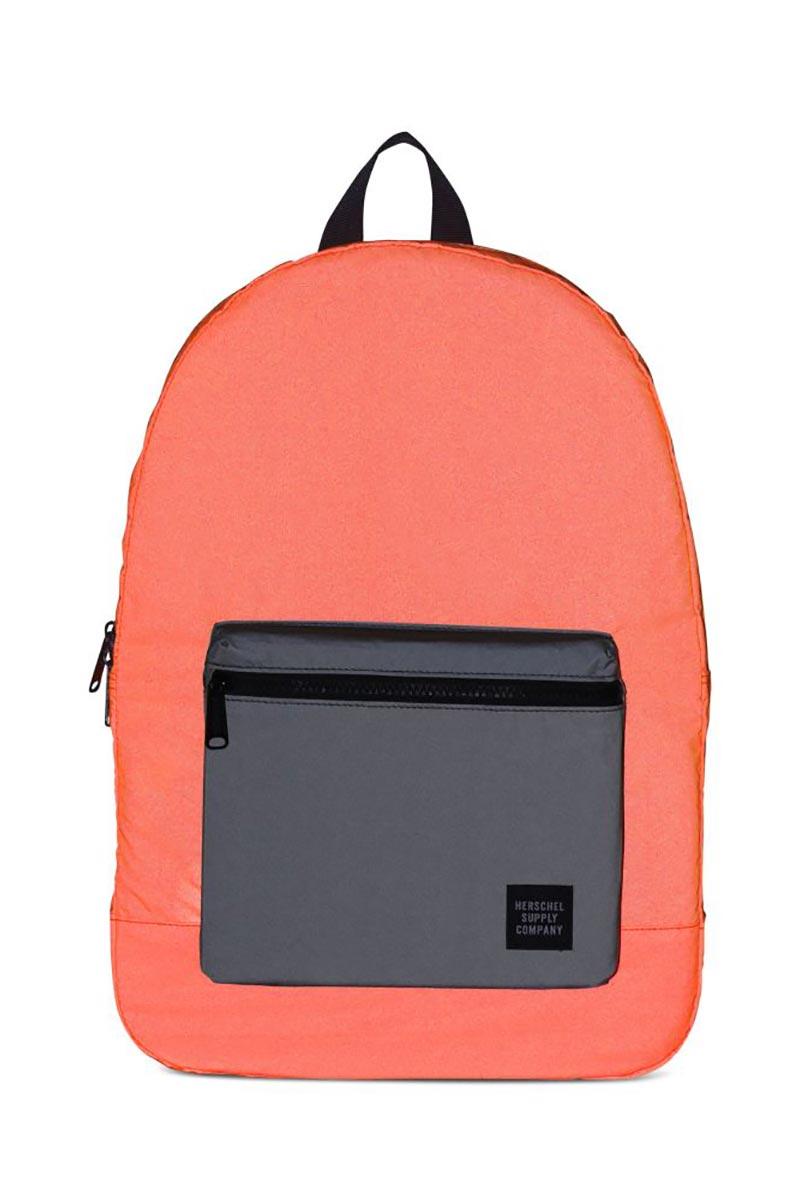 Herschel Supply Co. Daypack backpack neon orange reflective black reflective 2b33101ea93eb