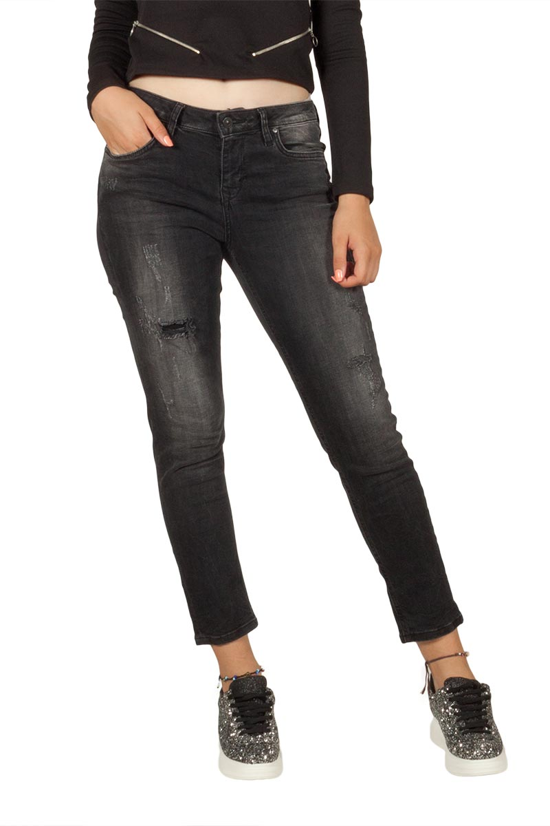 LTB Eliana cropped jeans black wash