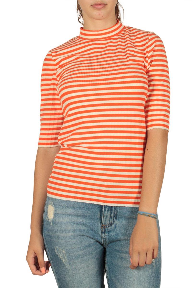 7016a053bbf7 Minimum Chatrine ριγέ μπλούζα εκρού-πορτοκαλί - 121380027