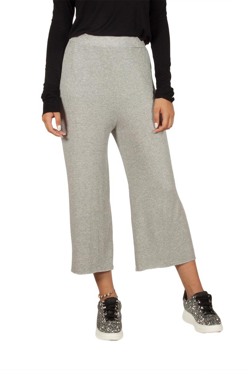 Mo+Saico Neda ζιπ κιλότ γκρι μελανζέ γυναικεια     παντελόνια