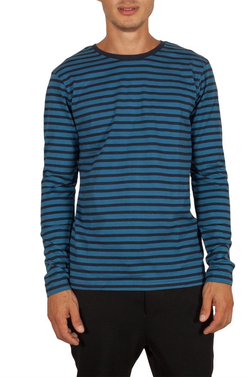 Anerkjendt Metri μακρυμάνικη μπλούζα ριγέ μπλε - 9417331-bl