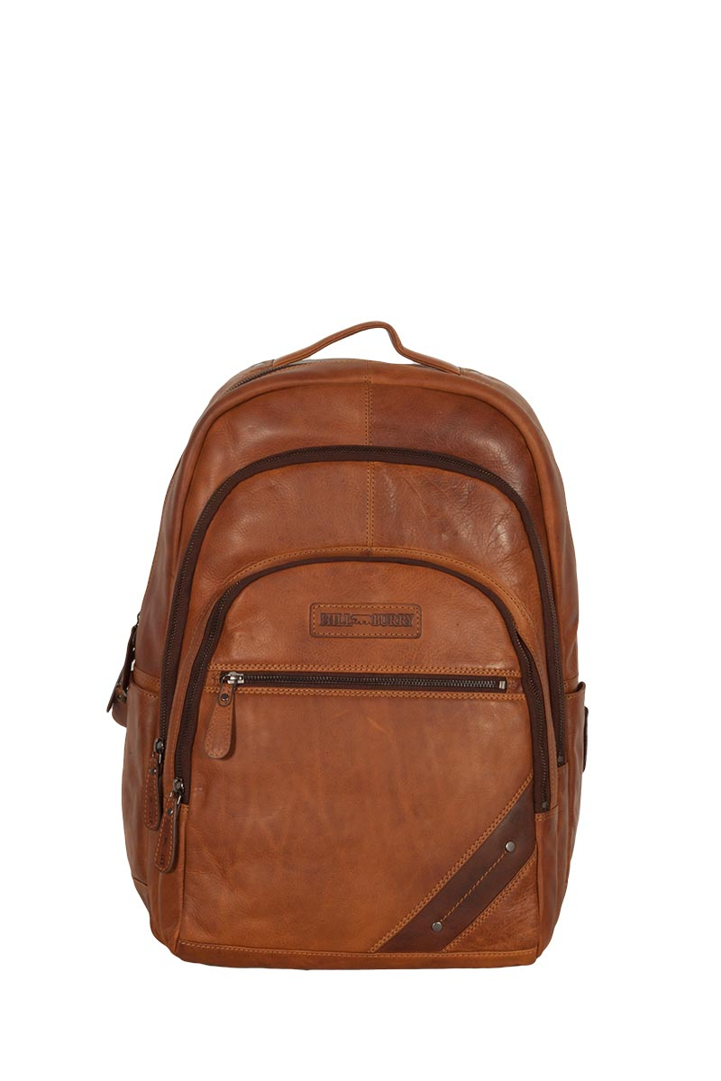 Hill Burry ανδρικό δερμάτινο backpack καφέ