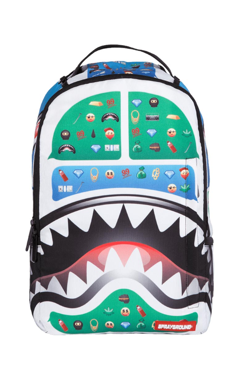 d5d4ef4f47 Sprayground Emoji shark backpack