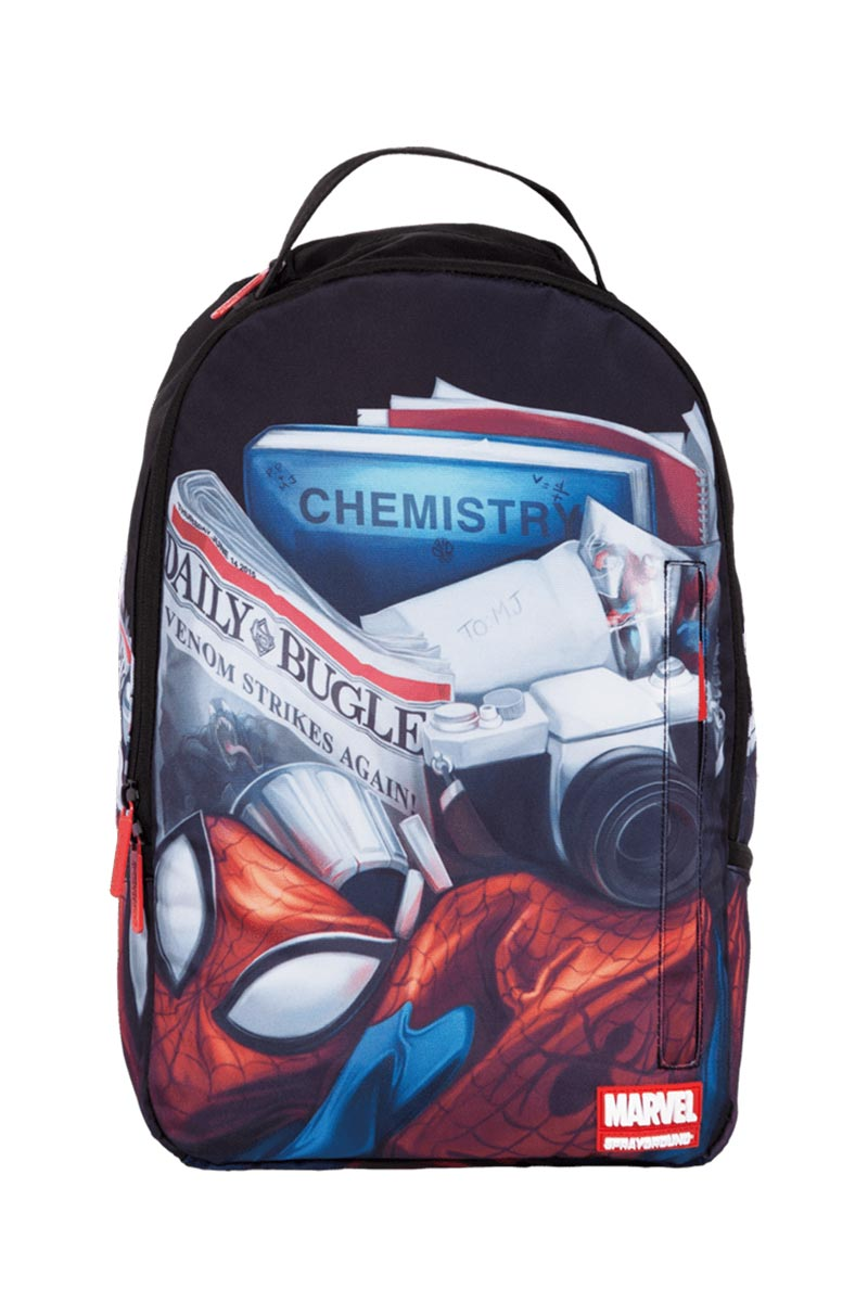 74eb1d9295 Sprayground Marvel s Day in the life of Peter Parker backpack