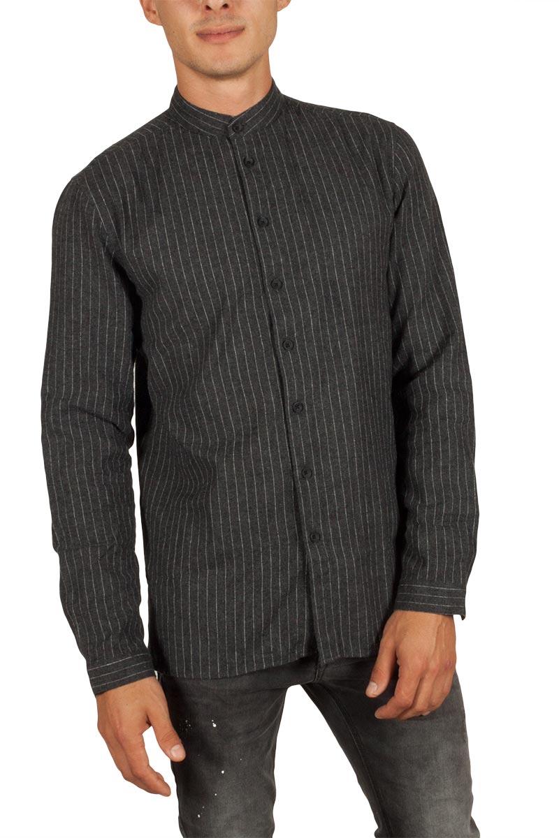 Anerkjendt Chad πουκάμισο σκούρο γκρι μελανζέ