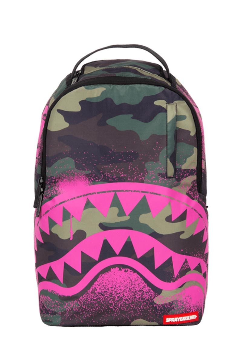00862c9fe9 Sprayground Pink stencil shark camo backpack