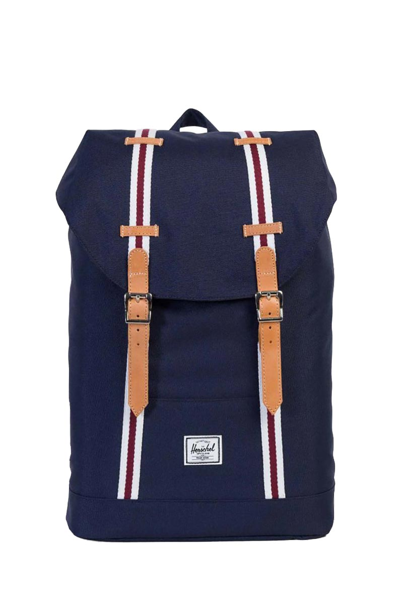 Herschel Supply Co. Retreat mid volume Offset backpack peacoat/white/windsore wine