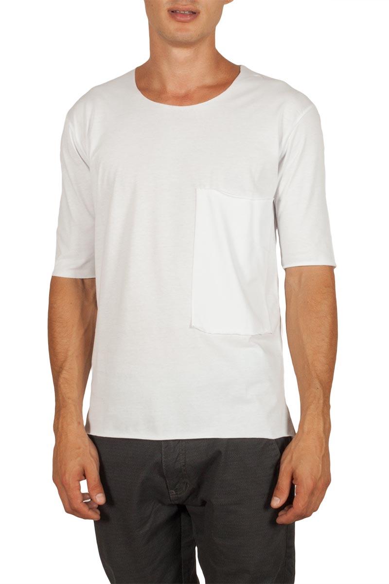 Ανδρικό t-shirt λευκό με τσέπη