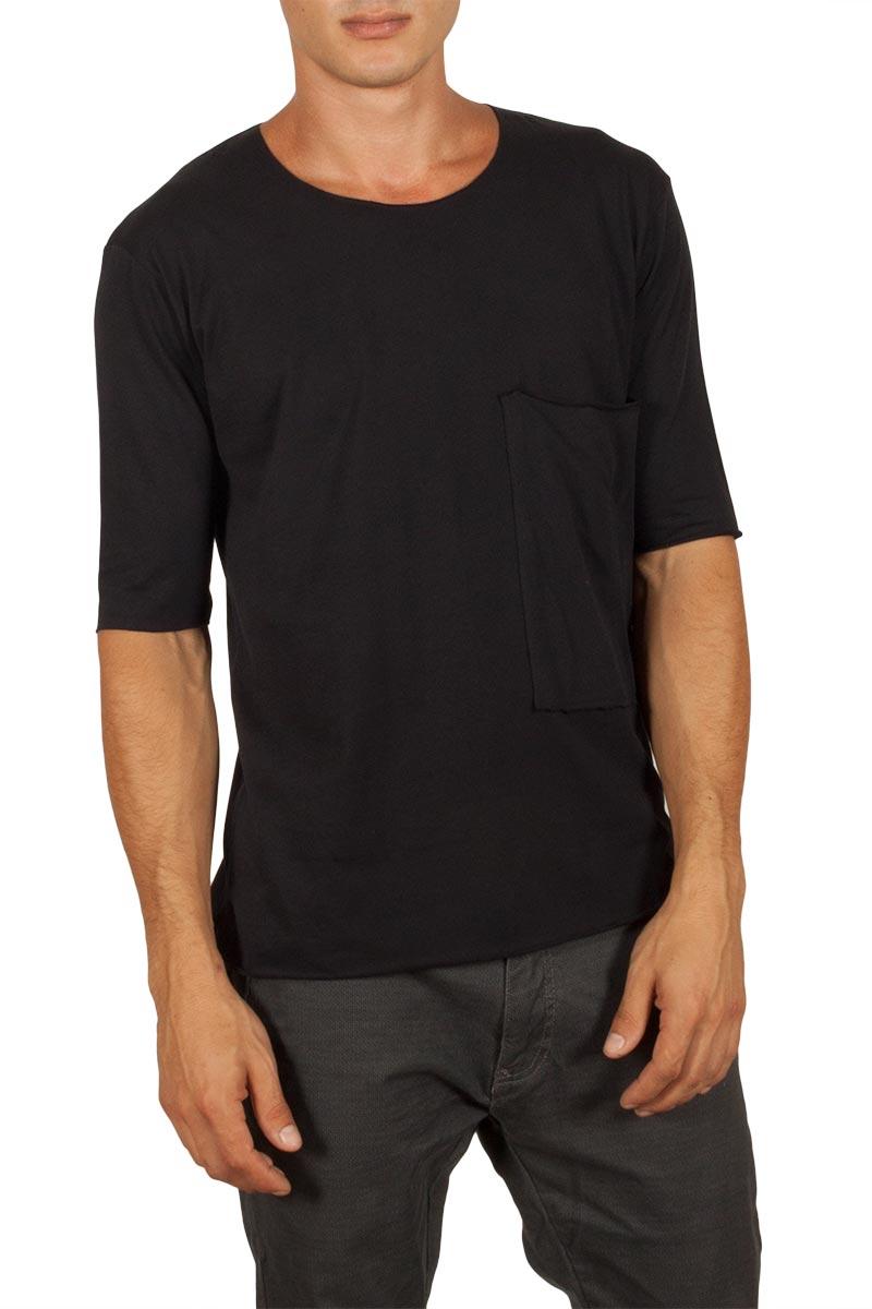 Ανδρικό t-shirt μαύρο με τσέπη